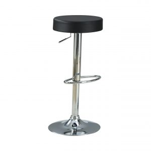 29″ Adjustable Bar Stool Chrome And Black