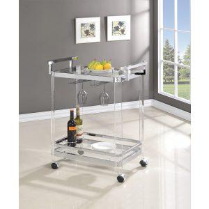 2-Tier Glass Serving Cart